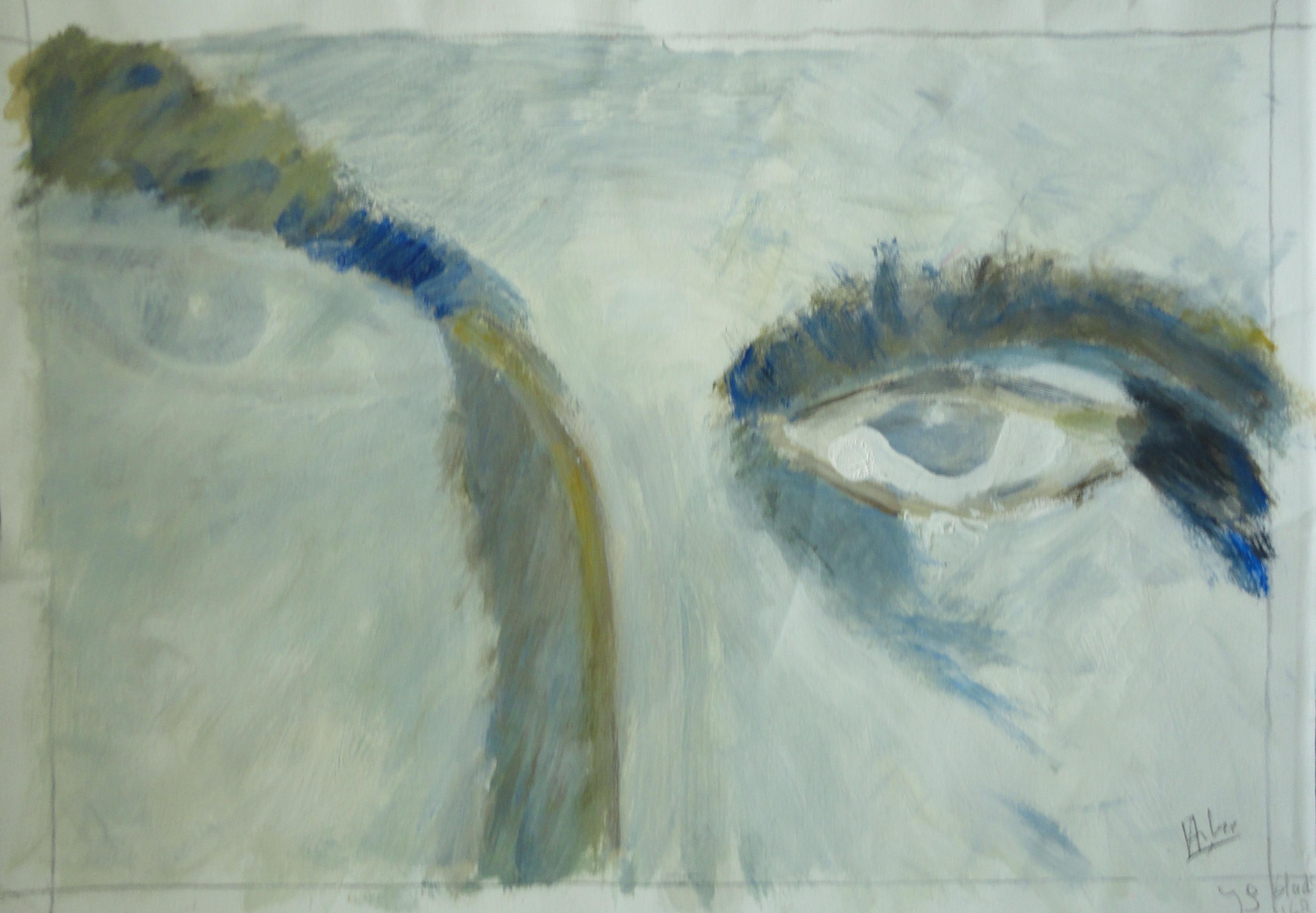 2 ogen, acryl