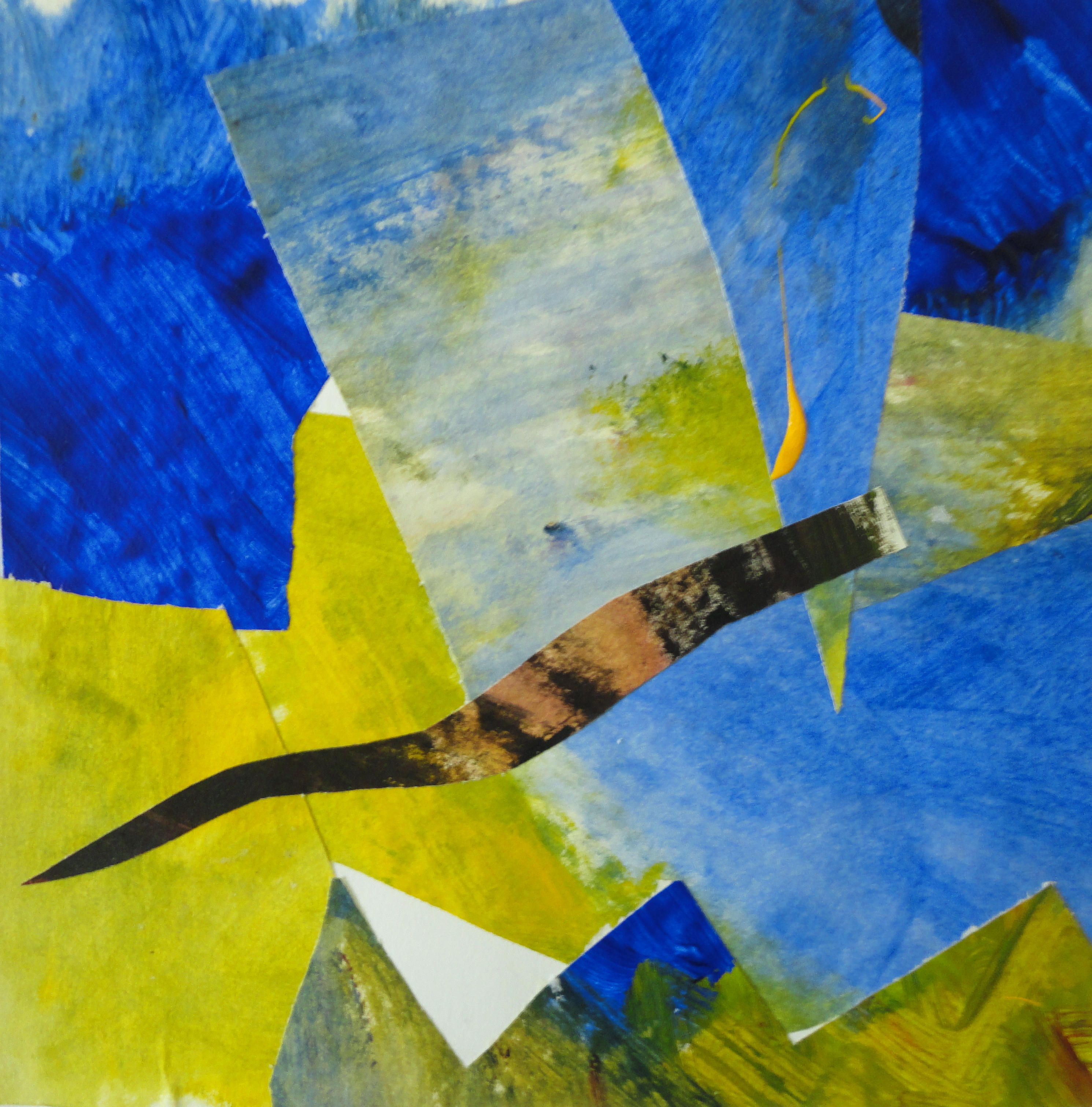 Abstract, collage, acryl