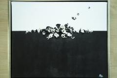 Black and white, acryl